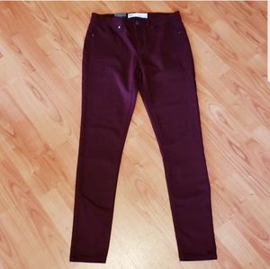 NWT RSQ Miami dark red maroon skinny jeans jegging